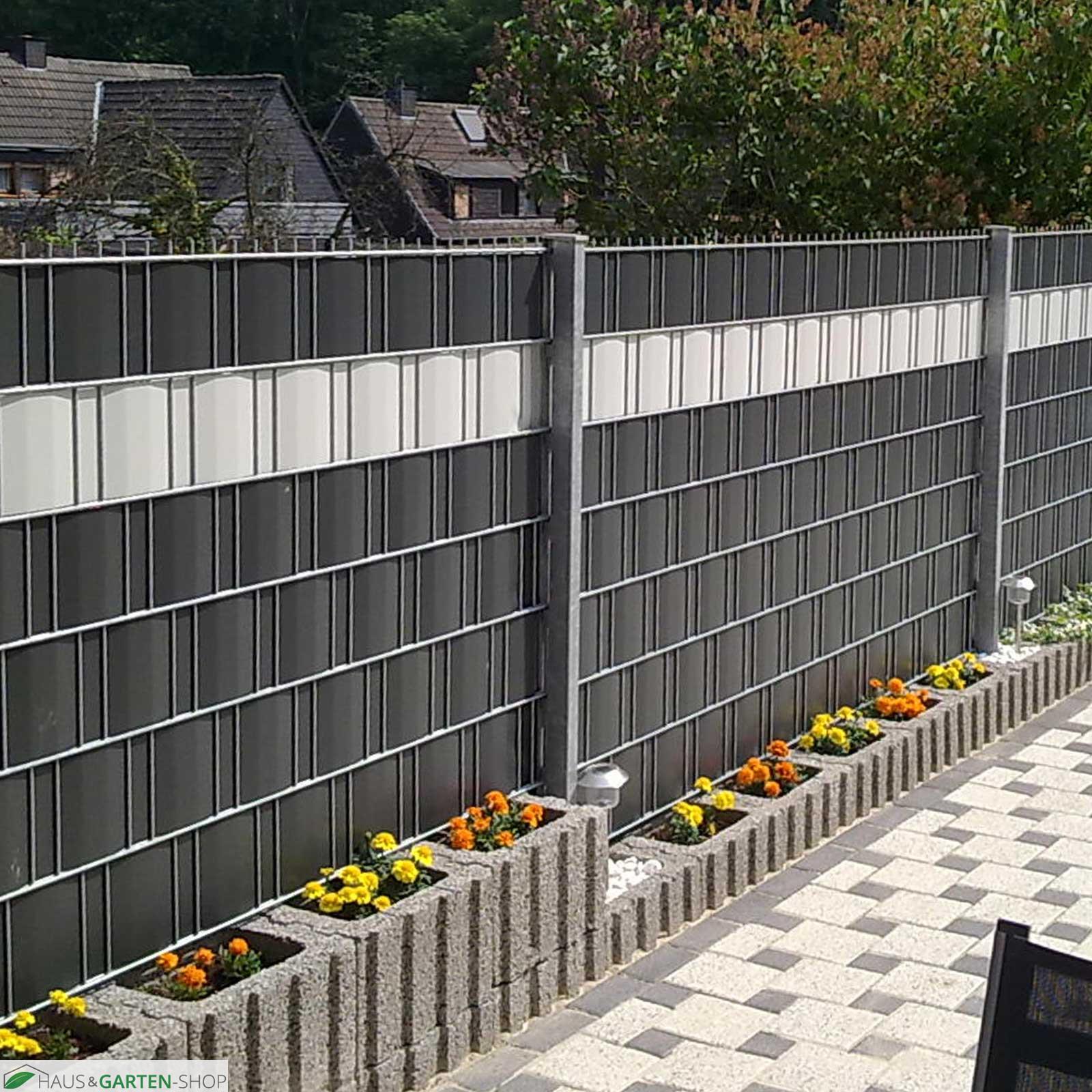 PVC Sichtschutzstreifen in Weiß Profi line