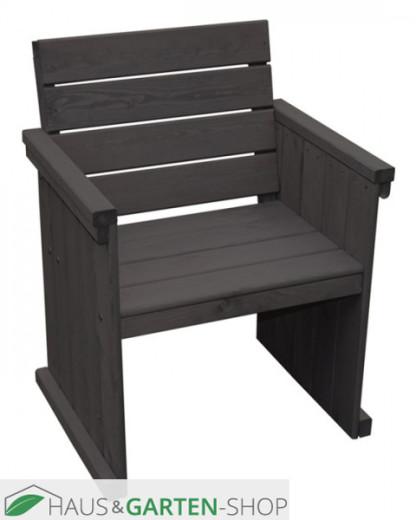 Holz Sessel anthrazit