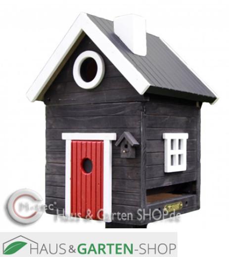 Vogelfutterhaus Blockhütte