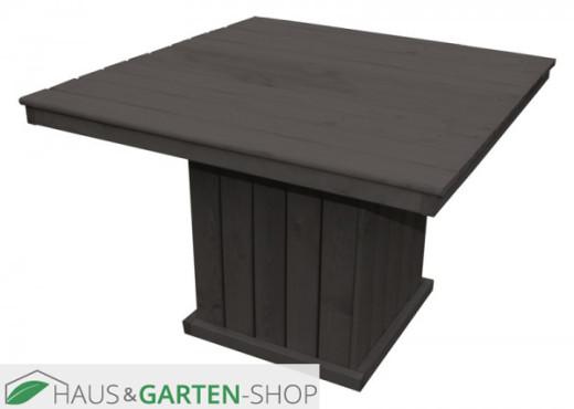 Holztisch groß St. Peter Ording anthrazit