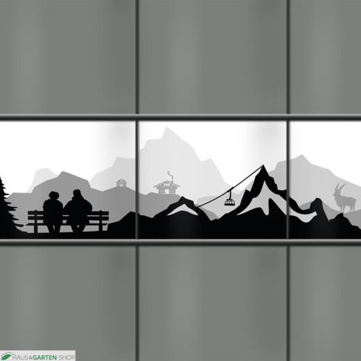 PVC Sichtschutzstreifen Alpenlandschaft