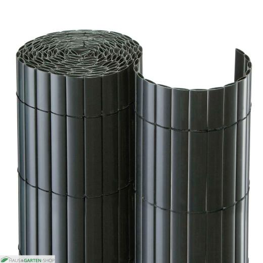 balkonsichtschutzmatte pvc anthrazit f r garten terrasse. Black Bedroom Furniture Sets. Home Design Ideas