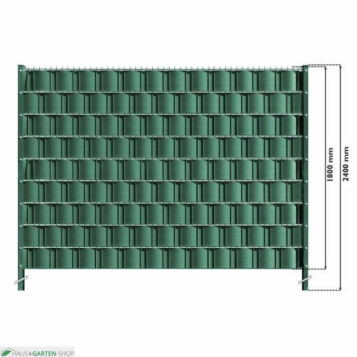 M-tec Gittermattenzaun Set Grün mit Hart PVC