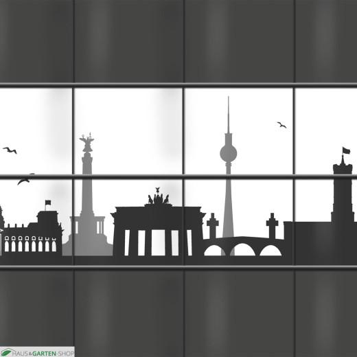 PVC Sichtschutz mit Berliner Skyline
