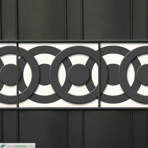 Weich-PVC Design Zaunstreifen Motiv Circle Point