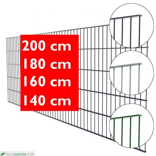 Doppelstabmatte leichte Ausführung in Grün, Anthrazit und Feuerverzinkt