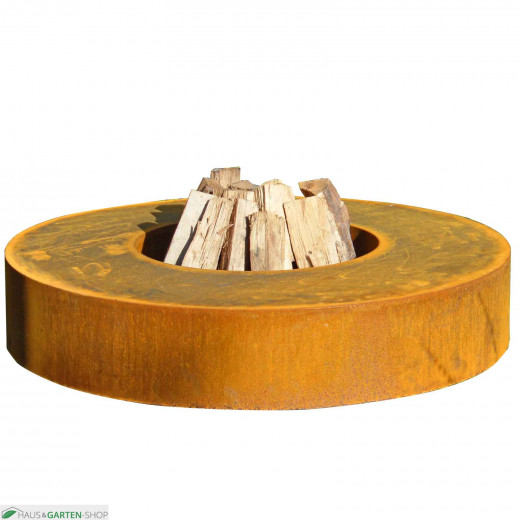 Feuertisch rund  aus Cortenstahl