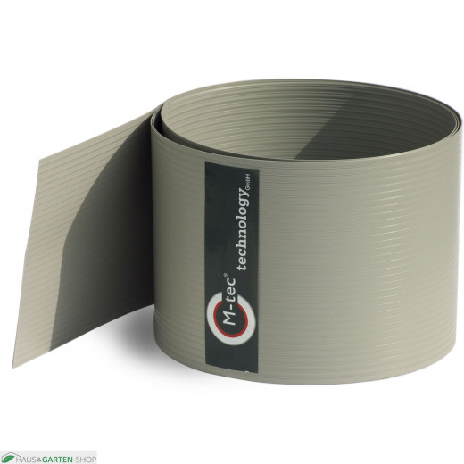 Sichtschutzstreifen Hart - PVC steingrau - 19cm hoch