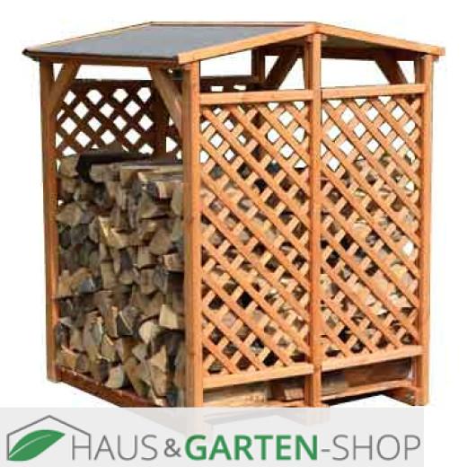 Kaminholzlager Romantica Wood aus Kiefernholz