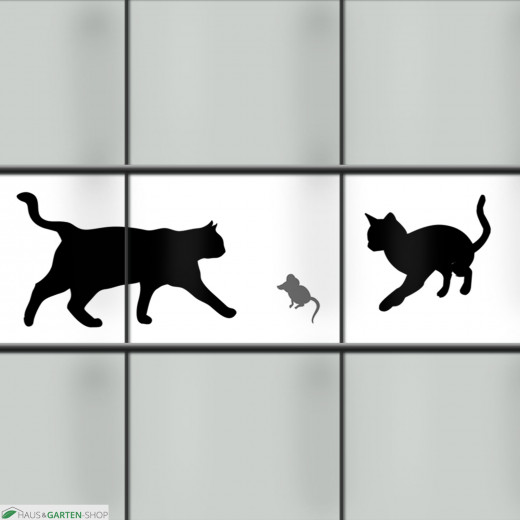 Kreativstreifen mit Tiermotiv Katzen