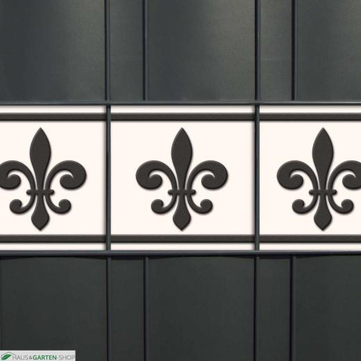 Weich-PVC Designstreifen mit Motiv Französische Lilie