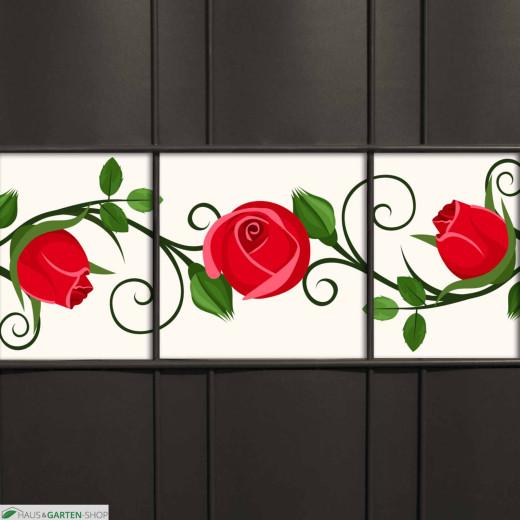Rosa-farbene Kirschblüten als Sichtschutzmotiv für den Gartenzaun