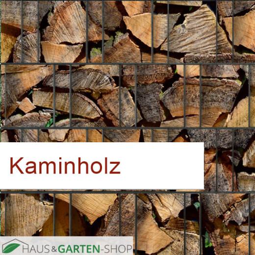Sichtschutzstreifen Motiv Kaminholz