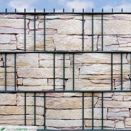 Steinmauer-Visual Tessin im Gartenzaun