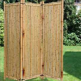 Paravent aus holz weide und bambus f r haus und garten - Paravent bambus ...
