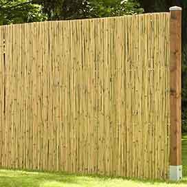Bambusmatten Sichtschutz Haltbarer Natursichtschutz