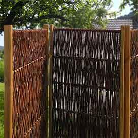 paravent aus holz weide und bambus f r haus und garten. Black Bedroom Furniture Sets. Home Design Ideas