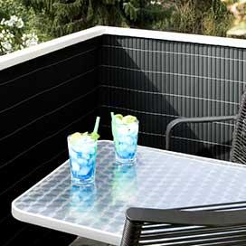 sichtschutz pvc sichtschutz matten als balkonsichtschutz. Black Bedroom Furniture Sets. Home Design Ideas