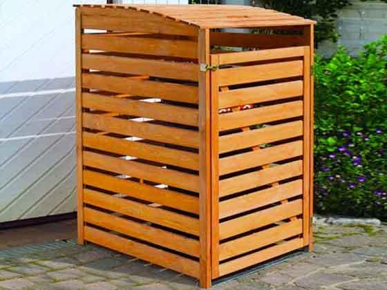 m lltonnencontainer aus kiefernholz f r eine m lltonne. Black Bedroom Furniture Sets. Home Design Ideas