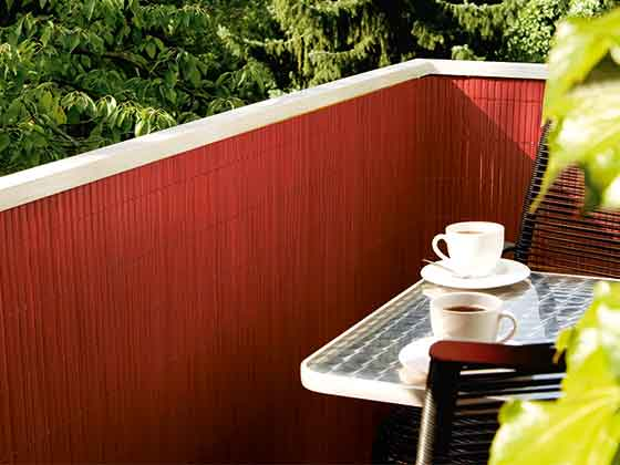 balkonbespannung kunststoff in der farbe kirsch. Black Bedroom Furniture Sets. Home Design Ideas