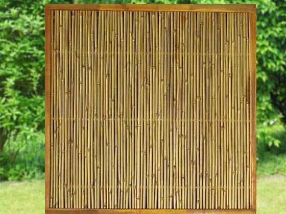 bambuszaun element mit holzrahmen. Black Bedroom Furniture Sets. Home Design Ideas