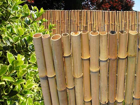 Stabile Bambusmatte Aus Dicken Naturrohr