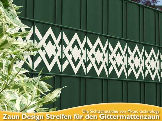 M-tec Zaun Design Sichtschutzstreifen