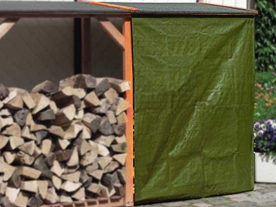 Romantica Wood Kaminholz Regal Wetterschutz Plane