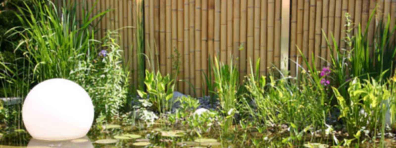 Sichtschutz Bambus Edelstahl Rahmen Speyeder = Verschiedene
