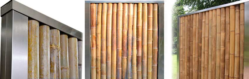 bambusw nde hochwertig mit edelstahl terrasse und garten. Black Bedroom Furniture Sets. Home Design Ideas