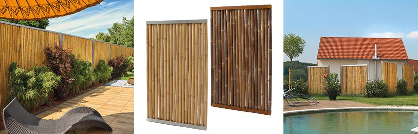 Bambus mit Stahlrahmen