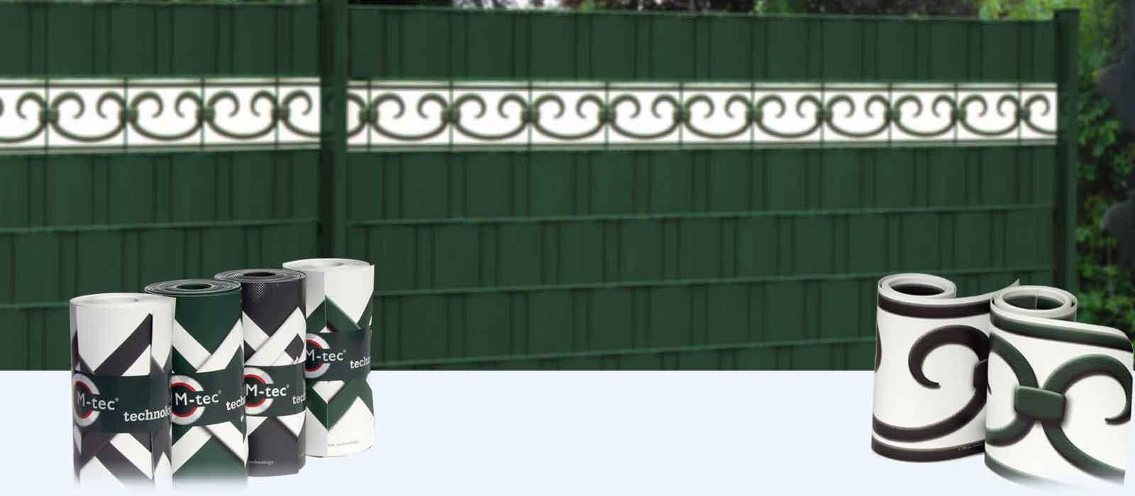 Design zaun streifen mit schönen motiven für den sichtschutzzaun