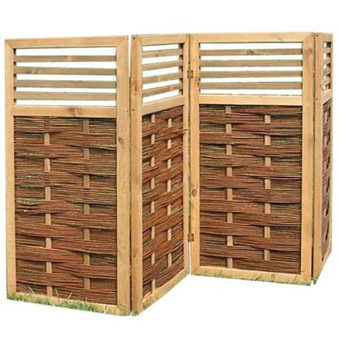 paravent aus holz, weide und bambus, für haus und garten, Terrassen ideen