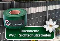 Blickdichte PVC-Sichtschutzstreifen