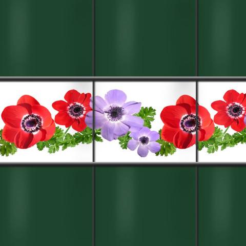 Kreativstreifen mit Blumenmotiv Anemonen