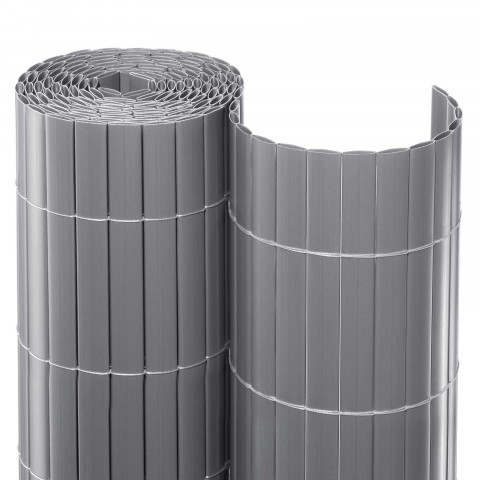 PVC Balkonsichtschutzmatte Rolle Aluminium
