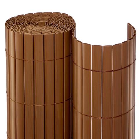 Balkonsichtschutzmatte Rolle Braun