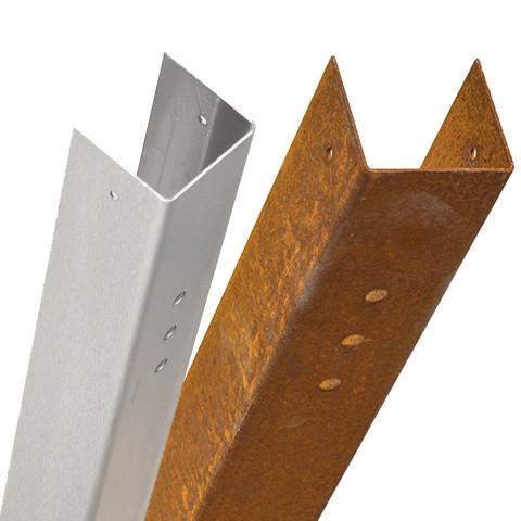 Wandmontage Rahmenprofil Edelstahl oder Cortenstahl