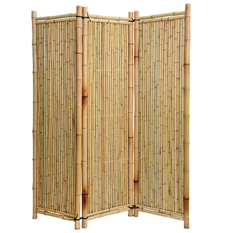 Bambusparavent Deluxe - natur
