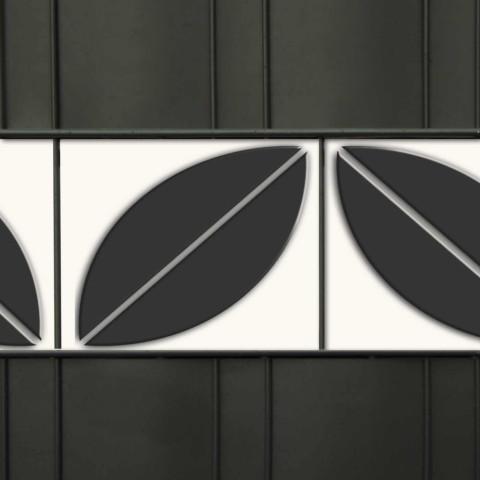PVC Dekorblende für den Zaun - Motiv Blatt