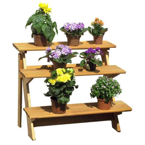 Blumenetagere aus Kiefernholz