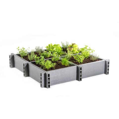 Gemüsepflanzkasten aus Recycling Kunststoff