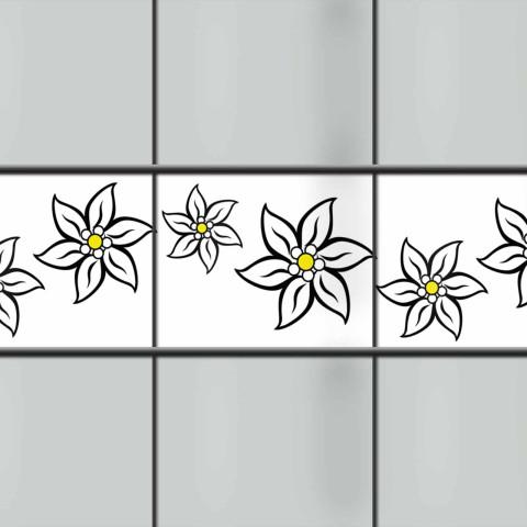 PVC Sichtschutz Streifen Edelweissblüte