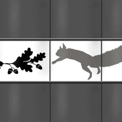 Zaunblende mit Eichhörnchen Motiv