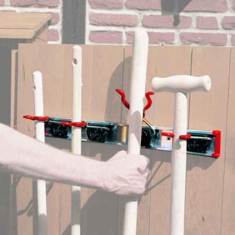 Geräteschiene mit 4 Haltern