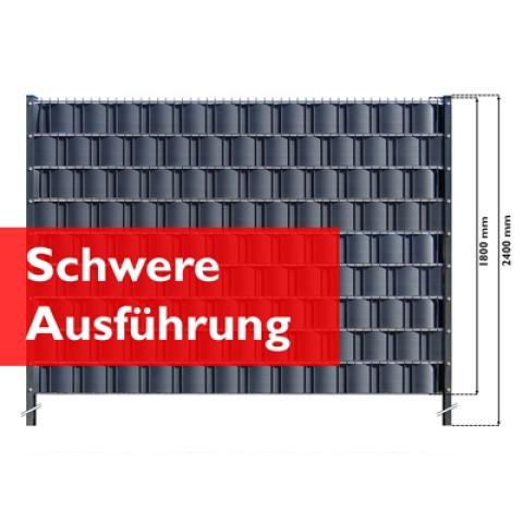 M-tec Gittermattenzaun Set Anthrazit mit Hart PVC