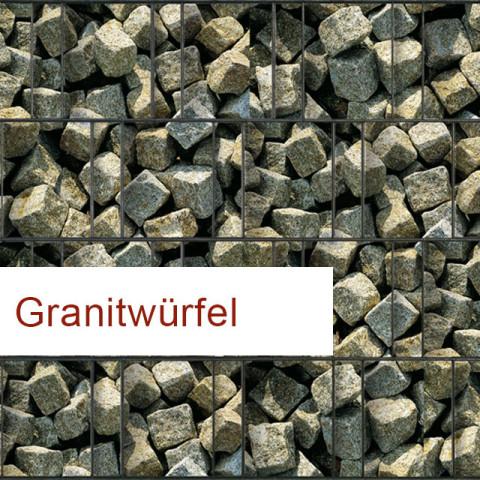 Sichtschutzstreifen Motiv Granitwürfel