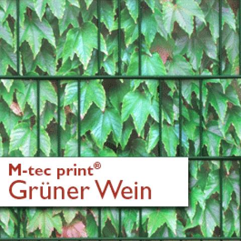 M-tec Print Zaunblendenstreifen Motiv Grüner Wein