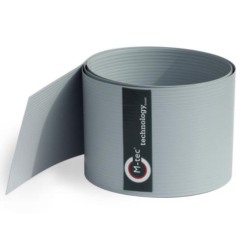 Sichtschutzstreifen Hart - PVC lichtgrau - H = 19