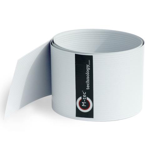 Sichtschutzstreifen Hart - PVC weiß